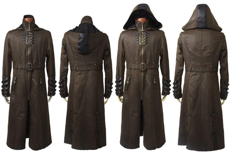 STEAMPUNK STORY Y-550CO Manteau marron avec sangles et ceinture Steampunk  Punk Rave Y- b52b226e2ab