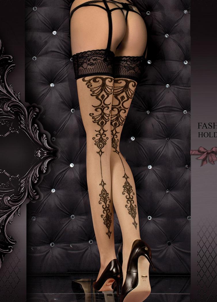 STEAMPUNK STORY Bas motif style tatouage noir et dentelle élégant sexy  burlesque gothique b178c384729