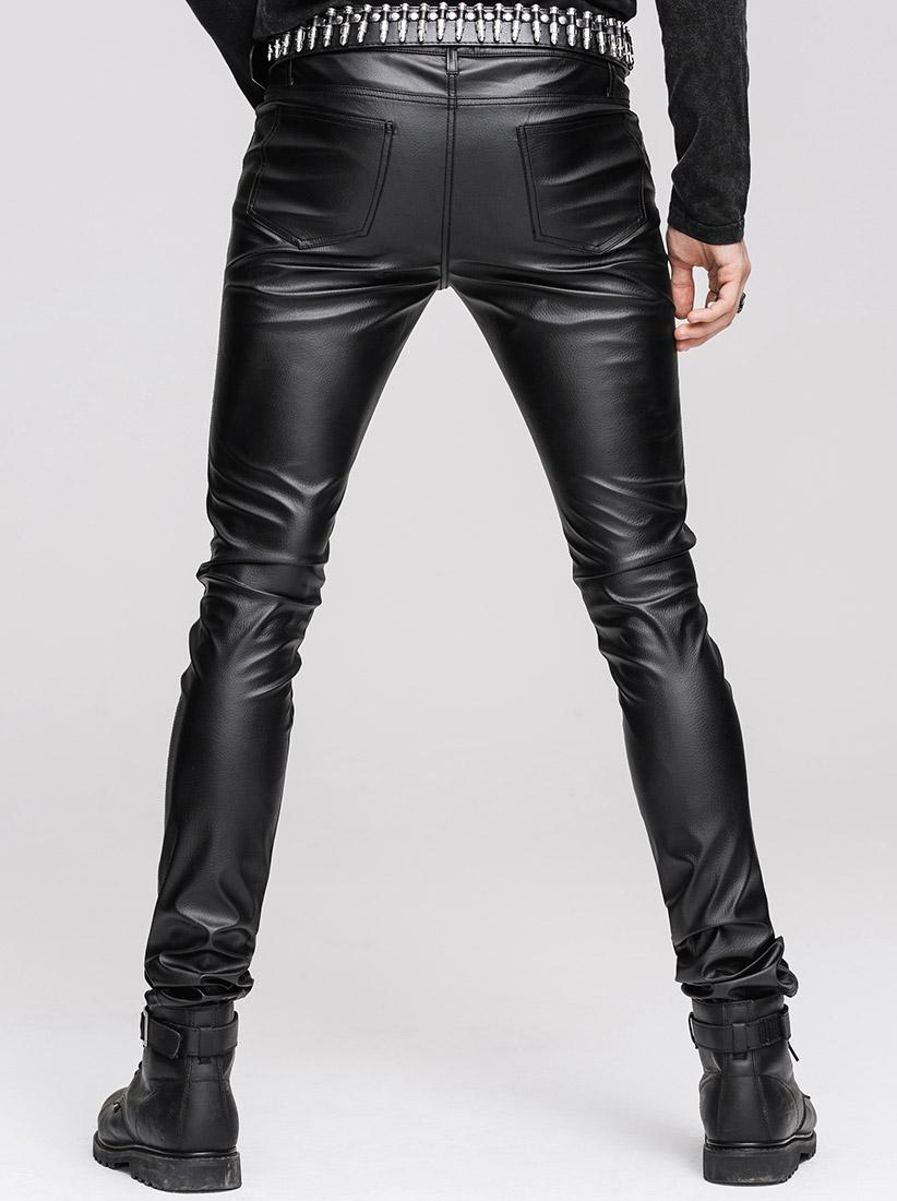 pas mal 7a94c e1ac0 Pantalon noir homme en simili-cuir punk fetish rock Devil Fashion