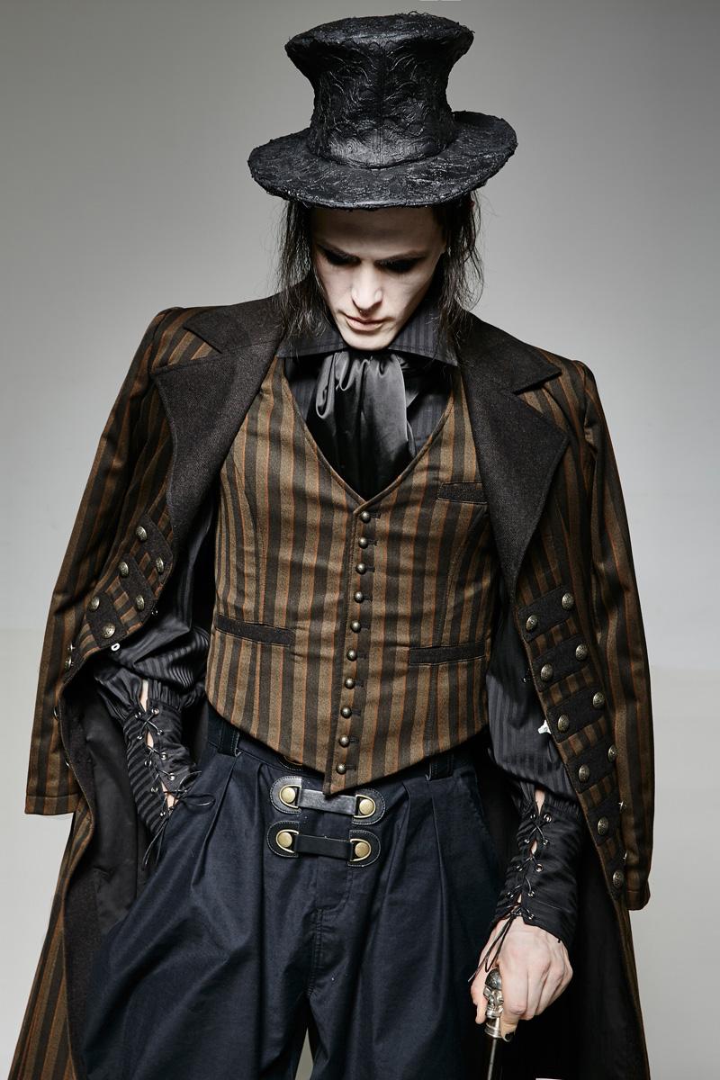 gilet marron ray costume homme vintage steampunk punk. Black Bedroom Furniture Sets. Home Design Ideas