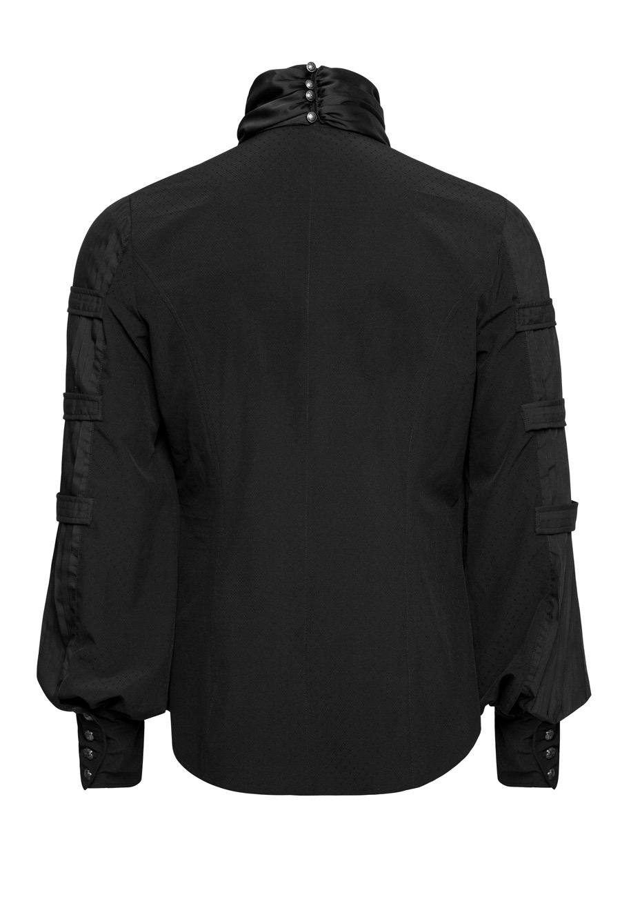 prix le plus bas 882ad 6bf6e Chemise noire homme avec manches bouffantes et lavallière, gothique  élégant, Punk Rave