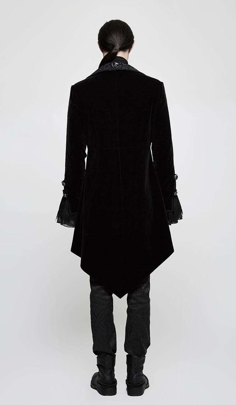 veste en velours noir homme avec motifs baroques et. Black Bedroom Furniture Sets. Home Design Ideas