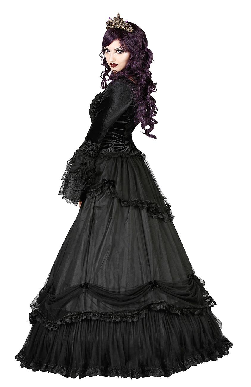 d3cebe0d25f STEAMPUNK STORY 900 Jupe longue noire drapé bas