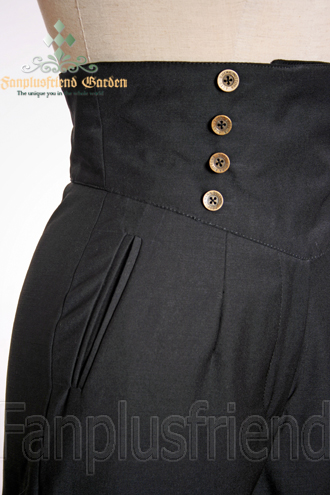 b926ff5b93 Fanplusfriend Steampunk Riding Breeches High Waisted Shorts Black Shorts  Women Shorts Casual Clothing, Shoes & Jewelry