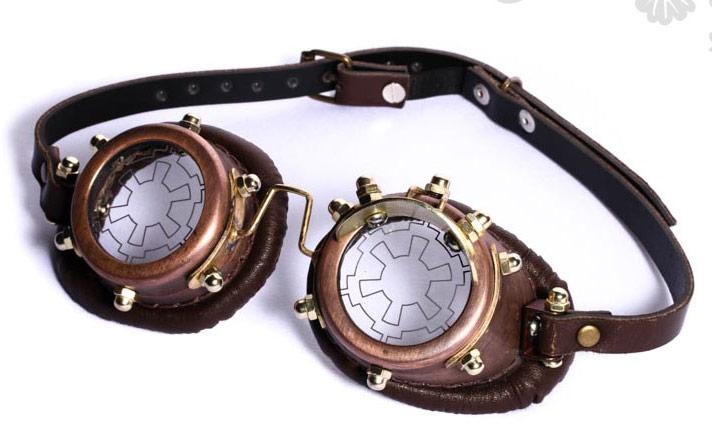 bee1cf8a81a2dc STEAMPUNK STORY SP070 coffee Lunettes goggles steampunk marron lentille  viseur ou noir